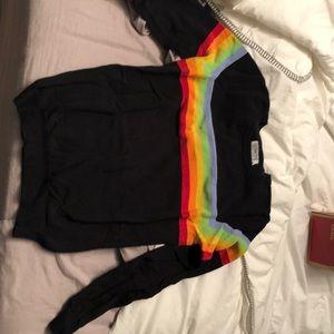 rainbow black shirt